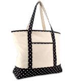 Shopping sac fourre-tout en toile de coton lourd (haut) étoile noire à fermeture éclair