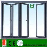 Ventana y puerta plegables de aluminio estándar franceses, ventana de aluminio plegable comúnmente usada de Bi y con la pantalla de la mosca