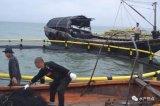 沖合いの深海を浮かべるHDPEは養魚場をおりに入れる