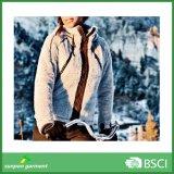 Супер теплая куртка ватки Windstopper с капюшоном приполюсная