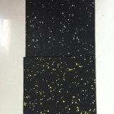 Ökonomischer Gummifußboden mit reinem schwarzem Gummikörnchen