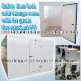 Fechadura da porta de segurança na sala de armazenagem fria com retardante de fogo de grau B1 PU