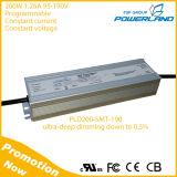 IP67 Classe 200W ao ar livre 0-10V / Rset / PWM / Relógio / DMX / Dimmable LED Driver