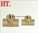 O bronze 3/4 de polegada coneta o encaixe do T da tubulação