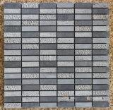Mosaïque de basalte, tuile de mosaïque et mosaïque grises de pierre