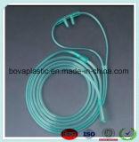 Alta calidad no tóxico PVC Claro nasal catéter de oxígeno cánula