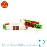 Kundenspezifische Spitzenverkäufe druckten Silikonwristband-Armband