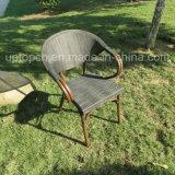 Ensemble de meubles de restaurant extérieur et intérieur avec chaise et table ronde en PE (SP-CT836)