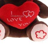 Jouet de singe bourré par animal de peluche avec le coeur affectueux