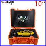 Сделайте камеру водостотьким Cr110-10g осмотра трубы 23mm видео- с экраном 10 '' цифров LCD с кабелем стекла волокна от 20m до 100m