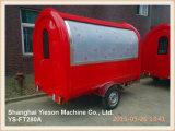 Ys-FT280A Auto van het Voedsel van de Vrachtwagen van het Voedsel de Mobiele voor Verkoop met het Glijdende Venster van het Glas