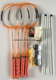 Напольные ракетки Badminton пляжа установили с сетью