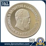 La moneta d'argento in lega di zinco del metallo dello specchio della pressofusione