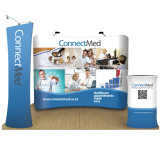 10FT Curve Tension Fabric Display Trade Show, Tension Fabric Display for Trade Show
