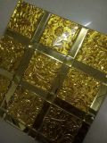 Плитка картины мозаики зеркала золота стеклянная (HD073)