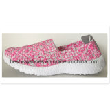 Bunter beiläufiger Schuh der Dame-Shoes Weave Shoe Slip-on