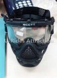 Маска Скотта, двухслойная противотуманная маска черного цвета для пейнтбольной игры