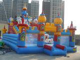 高品質は遊園地のためのおもちゃの膨脹可能な弾力がある城をからかう