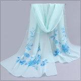 نساء شاطئ نسيج رقيق طبع زهرات ليّنة طويلة جميل لفاف شال وشاح ([سو108])