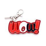 La lega di Walletzinc della vigilanza del regalo di promozione dell'anello chiave di marchio di marca dello smalto fornisce la plastica della fascia