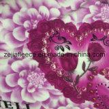 Panno morbido a doppia faccia tinto della flanella con la stampa del fiore