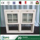 Australisches doppeltes gehangenes UPVC Standardfenster mit Gitter-Entwurf