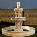 Marbre naturel en granit de sculpture sur pierre fontaine de jardin d'eau Statue décoratif