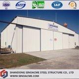 Hangar léger d'avions de structure métallique de porte coulissante