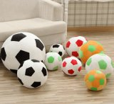 Подушка Emoji шарика футбола плюша заполненная тканью