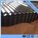 Gi ondulé feuille de métal de toiture en acier galvanisé
