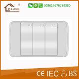 Nuevo diseño del interruptor 3 Banda de seguridad Interruptor de pared eléctrico