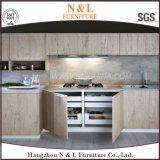 Casa em estilo americano do mobiliário de madeira sólida de armários de cozinha