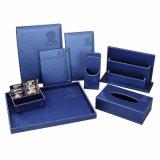 La máxima calidad funcional Multy Carpeta de proyecto de ley de cuero azul con bolsillo