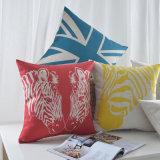 Cuscini quadrati di tela dell'alzavola del cotone di lusso per la casa