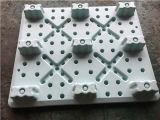 Plataforma de carga de carga más alta con nueve pies Cuatro lados pueden estar en la carretilla elevadora de palets de plástico