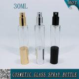 Bouteille en verre de parfum cosmétique rond de 1 once avec du brouillard 30ml de jet