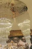 Phine lujoso de iluminación de techo con cristales de Villa y el restaurante
