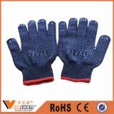 Устранимые поставленные точки PVC перчатки хлопка