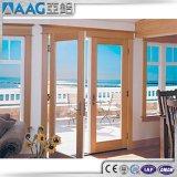 Porte articulée par aluminium/porte en aluminium de tissu pour rideaux pour la salle de bains