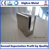 Morsetto di vetro del quadrato dell'acciaio inossidabile per il corrimano dell'inferriata della scala