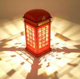 LED 밤 램프를 비용을 부과하는 포도 수확 런던 전화 박스 USB
