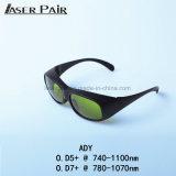 Lasersicherheits-Glas-Augenschutz 755nm, 808nm, 980nm, 1064nm für Alexandrite, 808 Diodes&980nm Dioden, Nd: YAG mit weißen Farben