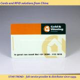 Firma completa / área de escrita no cartão de plástico para o cartão de serviço