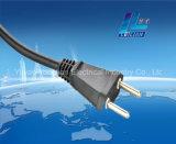 Plugue elétrico do cabo do cobre 2-Pin TUV 0.75/1.0mm2 do estilo de Brasil