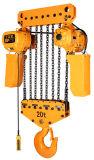 Élévateur à chaînes électrique lourd de 20 tonnes de constructeur avec le crochet