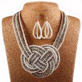 De Boheemse Parels Gevlechte Juwelen van de Manier van de Halsband van de Nauwsluitende halsketting van de Kraag van de Oorring Vastgestelde
