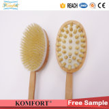 Madera de mango largo cuerpo del baño la piel trasera de cerdas del cepillo del masaje (JMHF-125)