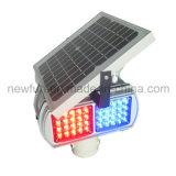 Indicatore luminoso d'avvertimento LED lampeggiante dei quattro lati di traffico solare