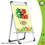 La vente en gros de la Chine un double d'affiche de bâti a dégrossi stand de dessins d'étalage