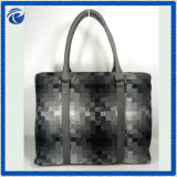 Graue Wolle-Polyester-Form-Frauen-Handtasche für Herbst-Jahreszeit
